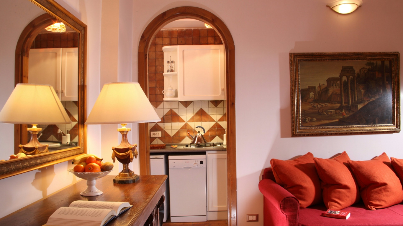 Elite-Apartments-Roma-Vittoria-suite-sala-de-estar-y-cocina